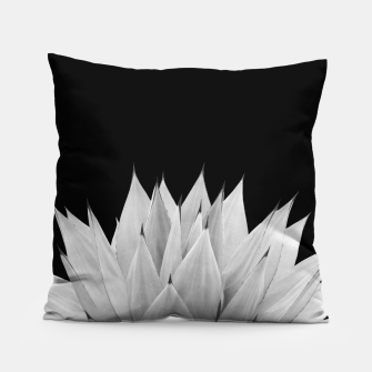 Miniatur Agave Black & White Summer Night Vibes #1 #tropical #decor #art Kissen, Live Heroes