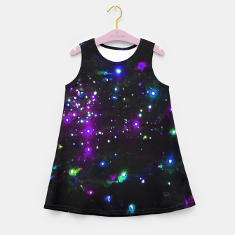 Miniatur Cool Galaxy Girl's summer dress, Live Heroes
