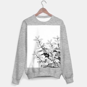 Thumbnail image of Eucalyptus Leaves Black & White Vibes #1 #foliage #decor #art Sweatshirt regulär, Live Heroes