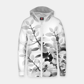 Thumbnail image of Eucalyptus Leaves Black & White Vibes #1 #foliage #decor #art Reißverschluss kapuzenpullover, Live Heroes