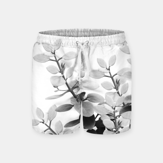 Thumbnail image of Eucalyptus Leaves Black & White Vibes #1 #foliage #decor #art Badeshorts, Live Heroes