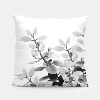Thumbnail image of Eucalyptus Leaves Black & White Vibes #1 #foliage #decor #art Kissen, Live Heroes