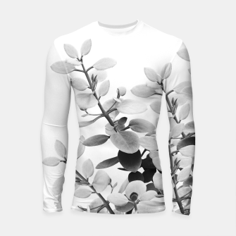 Thumbnail image of Eucalyptus Leaves Black & White Vibes #1 #foliage #decor #art Longsleeve rashguard, Live Heroes