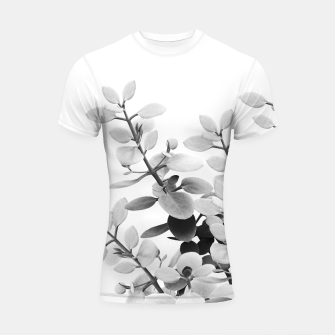 Thumbnail image of Eucalyptus Leaves Black & White Vibes #1 #foliage #decor #art Shortsleeve rashguard, Live Heroes
