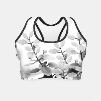 Thumbnail image of Eucalyptus Leaves Black & White Vibes #1 #foliage #decor #art Crop Top, Live Heroes
