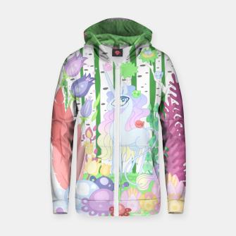 Thumbnail image of Unicorn Glade - visiting birds Zip up hoodie, Live Heroes