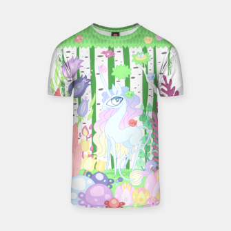 Thumbnail image of Unicorn Glade - visiting birds T-shirt, Live Heroes