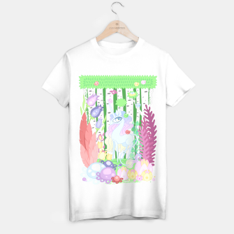 Thumbnail image of Unicorn Glade - visiting birds T-shirt regular, Live Heroes