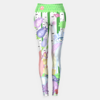 Thumbnail image of Unicorn Glade - visiting birds Leggings, Live Heroes