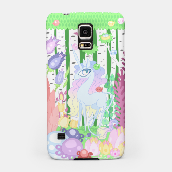 Thumbnail image of Unicorn Glade - visiting birds Samsung Case, Live Heroes