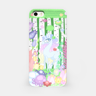 Thumbnail image of Unicorn Glade - visiting birds iPhone Case, Live Heroes