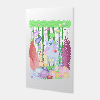Thumbnail image of Unicorn Glade - visiting birds Canvas, Live Heroes