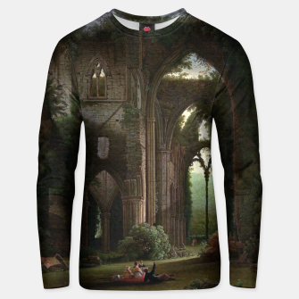 Miniatur Sketching the Ruins of Tintern Abbey by Samuel Colman Unisex sweater, Live Heroes