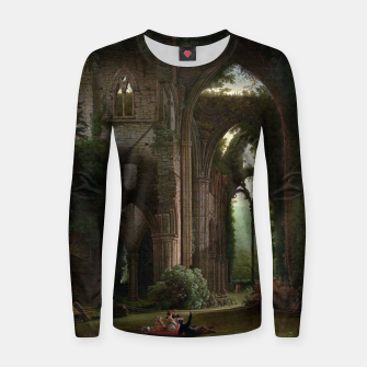 Miniatur Sketching the Ruins of Tintern Abbey by Samuel Colman Women sweater, Live Heroes
