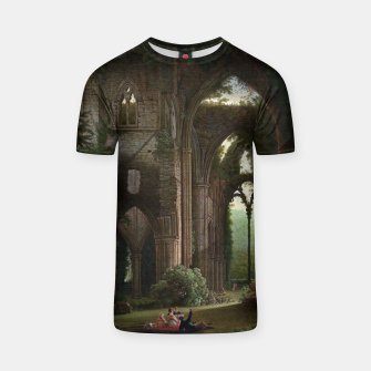 Miniatur Sketching the Ruins of Tintern Abbey by Samuel Colman T-shirt, Live Heroes