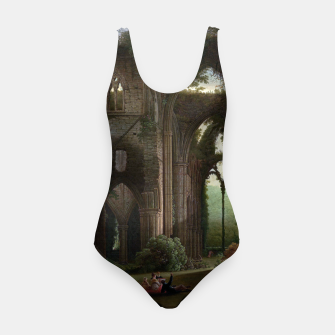 Miniatur Sketching the Ruins of Tintern Abbey by Samuel Colman Swimsuit, Live Heroes