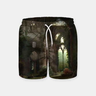 Miniatur Sketching the Ruins of Tintern Abbey by Samuel Colman Swim Shorts, Live Heroes
