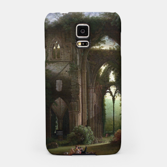 Miniatur Sketching the Ruins of Tintern Abbey by Samuel Colman Samsung Case, Live Heroes