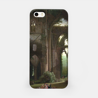 Miniatur Sketching the Ruins of Tintern Abbey by Samuel Colman iPhone Case, Live Heroes