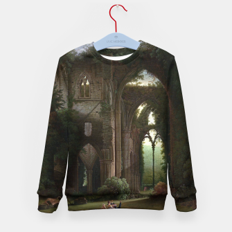 Miniatur Sketching the Ruins of Tintern Abbey by Samuel Colman Kid's sweater, Live Heroes