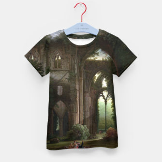 Miniatur Sketching the Ruins of Tintern Abbey by Samuel Colman Kid's t-shirt, Live Heroes