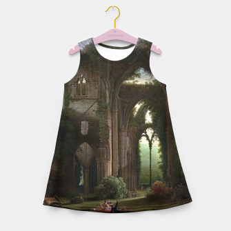 Miniatur Sketching the Ruins of Tintern Abbey by Samuel Colman Girl's summer dress, Live Heroes