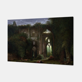 Miniatur Sketching the Ruins of Tintern Abbey by Samuel Colman Canvas, Live Heroes