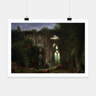 Miniatur Sketching the Ruins of Tintern Abbey by Samuel Colman Poster, Live Heroes
