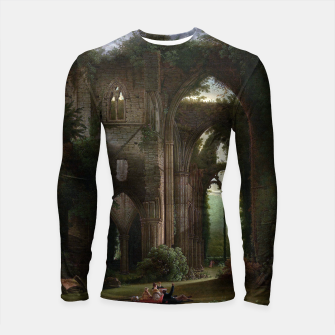 Miniatur Sketching the Ruins of Tintern Abbey by Samuel Colman Longsleeve rashguard , Live Heroes