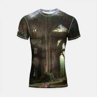 Miniatur Sketching the Ruins of Tintern Abbey by Samuel Colman Shortsleeve rashguard, Live Heroes