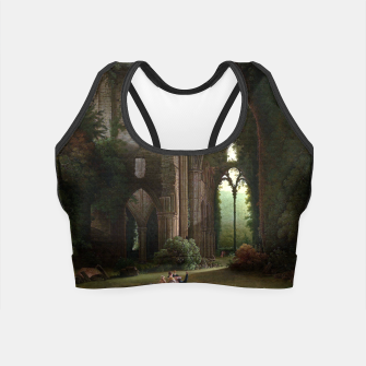 Miniatur Sketching the Ruins of Tintern Abbey by Samuel Colman Crop Top, Live Heroes
