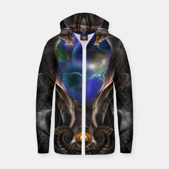 Thumbnail image of Seeing Past Oblivion TOLOB Fractal Art Composition Zip up hoodie, Live Heroes