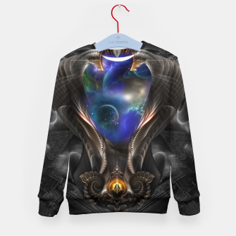 Thumbnail image of Seeing Past Oblivion TOLOB Fractal Art Composition Kid's sweater, Live Heroes