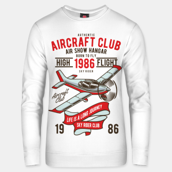 Miniatur Born to Fly - Aircraft Club Unisex sweater, Live Heroes