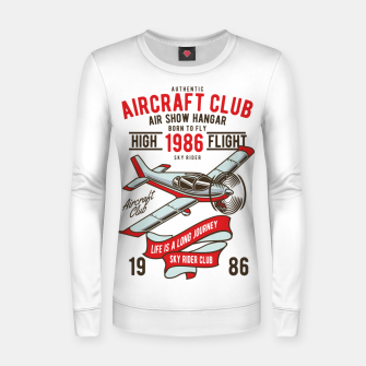 Miniatur Born to Fly - Aircraft Club Women sweater, Live Heroes