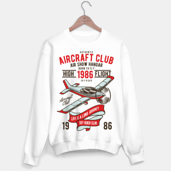 Miniatur Born to Fly - Aircraft Club Sweater regular, Live Heroes