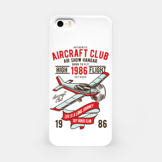 Miniatur Born to Fly - Aircraft Club iPhone Case, Live Heroes