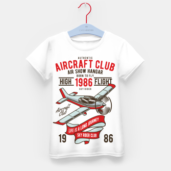 Miniatur Born to Fly - Aircraft Club Kid's t-shirt, Live Heroes