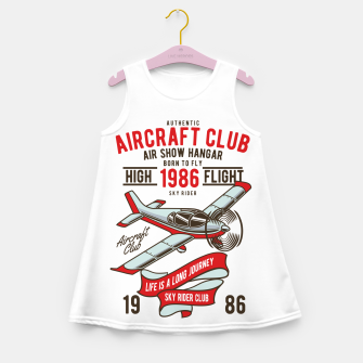 Miniatur Born to Fly - Aircraft Club Girl's summer dress, Live Heroes