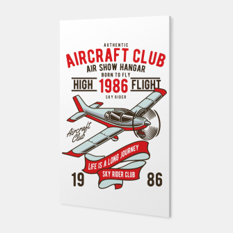 Miniatur Born to Fly - Aircraft Club Canvas, Live Heroes