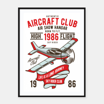 Miniatur Born to Fly - Aircraft Club Framed poster, Live Heroes