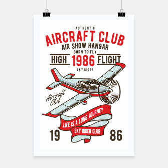 Miniatur Born to Fly - Aircraft Club Poster, Live Heroes