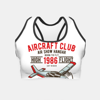 Miniatur Born to Fly - Aircraft Club Crop Top, Live Heroes