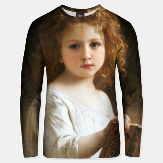 The Story Book by William-Adolphe Bouguereau Unisex sweater thumbnail image