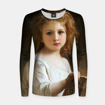 The Story Book by William-Adolphe Bouguereau Women sweater thumbnail image