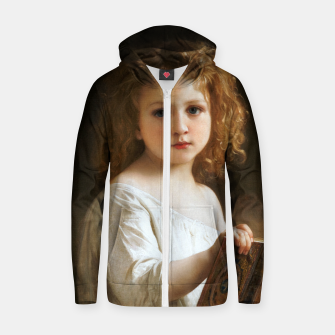 The Story Book by William-Adolphe Bouguereau Zip up hoodie thumbnail image
