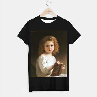 Thumbnail image of The Story Book by William-Adolphe Bouguereau T-shirt regular, Live Heroes