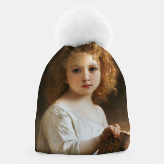 Thumbnail image of The Story Book by William-Adolphe Bouguereau Beanie, Live Heroes