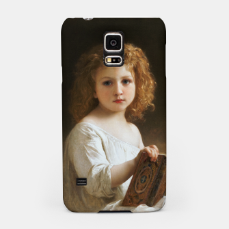 Thumbnail image of The Story Book by William-Adolphe Bouguereau Samsung Case, Live Heroes