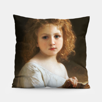 The Story Book by William-Adolphe Bouguereau Pillow thumbnail image